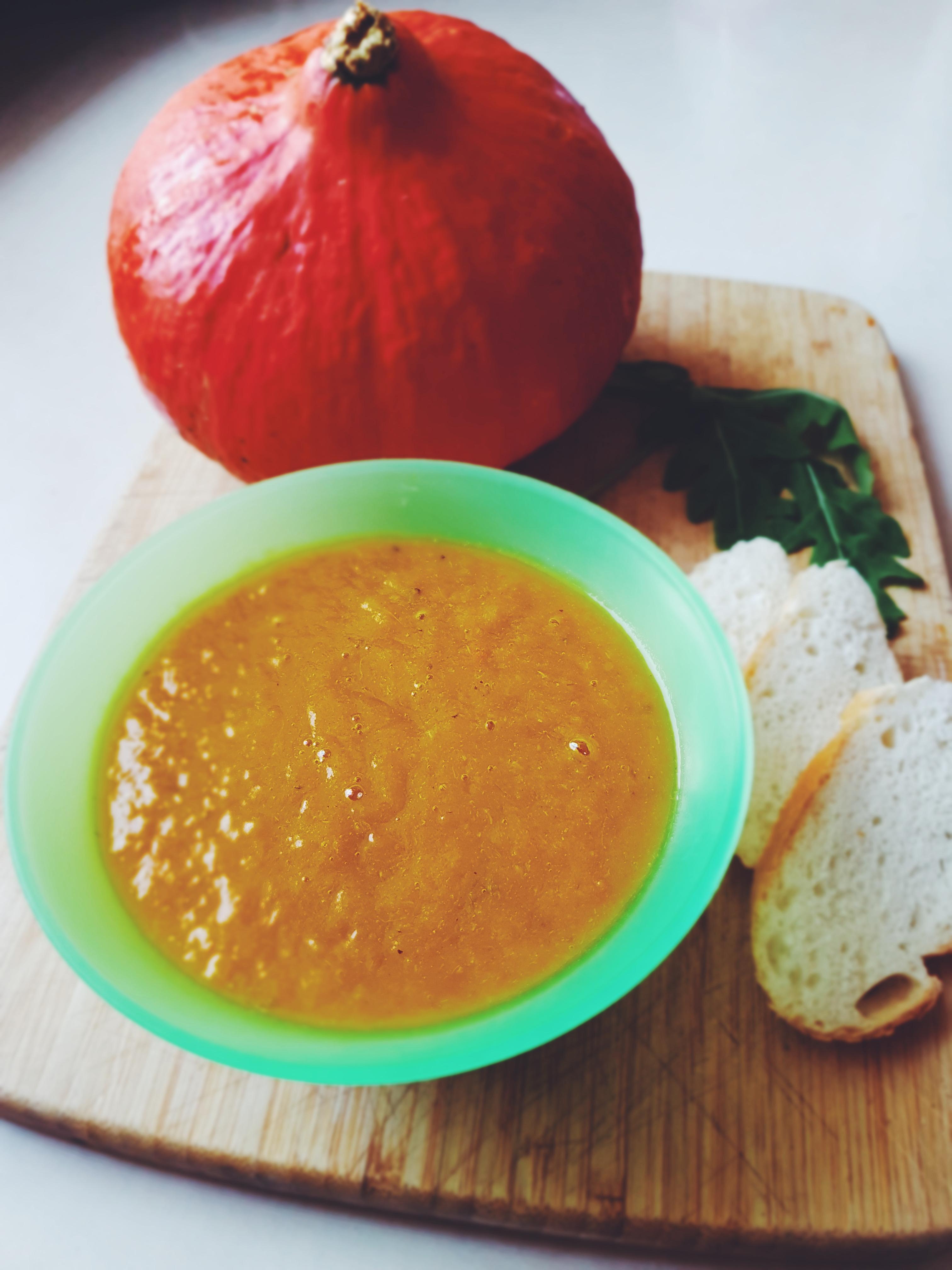 Prosty przepis na zupę dyniową dla dziecka.